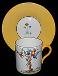 Shelley England Art Deco Crabtree Cup And Saucer Coffee