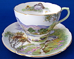 Shelley Cup And Saucer English Lakes Cambridge Demi