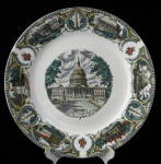 Souvenir Plate Washington Dc Ironstone Transfer Capitol
