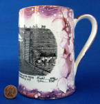 Purple Luster Tankard Iron Bridge Engraving Grays