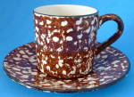 Cup And Saucer Stangl Town And Country Brown Usa