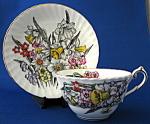 Cup And Saucer Daffodil Spring Bouquet Enamel Accents