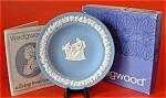 Wedgwood Blue Jasperware Pin Dish Round Tray Box Mint