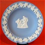 Plate Wedgwood Blue Jasper Jasperware Dish Cherub Mask