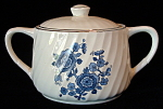 Wedgwood England Royal Blue Sugar Bowl With Lid