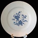 Wedgwood Dinner Plate Royal Blue Platinum Rim England