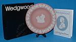 Wedgwood Pink Jasper Cupid Oracle Plate England Mibox