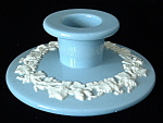 Candle Holder Wedgwood Embossed Queensware Blue