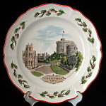 Wedgwood Queensware Christmas Plate Windsor First