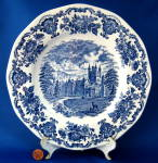 Dinner Plate Wedgwood Royal Homes Of Britain Blue Transferware