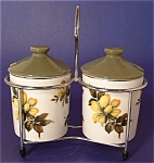 Jam Jars Caddy Midwinter England Vintage Pair Cruets