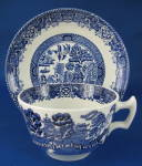 Cup And Saucer Blue Willow Ironstone Wood And Sons