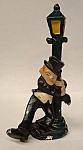 Antique Lead Figurine Drunk On Lampost Bottle Opener