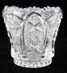 Toothpick Imperial Glass Clear Octagon Toothed Rim