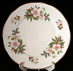 Christmas Roses English Bone China Plate Holly
