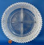 Miss America 4 Part Relish Clear Depression Glass Hobnail
