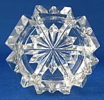 Master Open Salt English Cut Glass Victorian Hexagonal