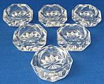 Salt Dip Set Of 6 Antique Honeycomb Diamond Cut Glass