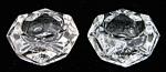 Salt Dip Pair Antique Honeycomb Diamond Cut Glass
