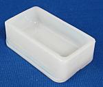 Milk Glass Open Salt Antique English Rectangle