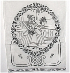 Antique German Overtowel Show Towel Hand Stitched