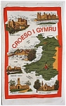 Tea Towel England Welcome To Wales Vintage Welsh