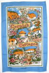 Tea Towel Cornish Cottages England Cornwall Villages