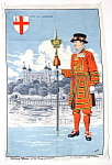 Tea Towel Beefeater Tower Of London Vintage Linen