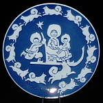 Royal Copenhagen Mother's Day Plate 1974 Eskimo Dogs