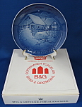 Plate Bing And Grondahl 1975 Christmas Water Mill Mib