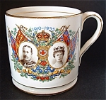 Mug King George V Queen Mary England Silver Jubilee