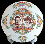 Plate Royal Wedding Prince Charles And Lady Diana Flora