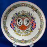 Wedgwood Plate Royal Wedding Charles Diana Ironstone