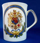 Elizabethan Mug Royal Wedding Charles Diana 1981 Coat Of Arms