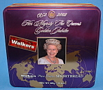 Queen Elizabeth Golden Jubilee Biscuit Tin England