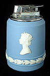 Wedgwood Jasperware Lighter Queen Elizabeth Ii Jubilee