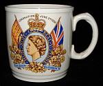 Mug Coronation Queen Elizabeth Ii England Ironstone