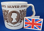 Queen Elizabeth Ii Jubilee Mug Brown Transfer Mint Tags