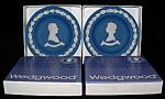 Wedgwood Dish Pair Queen Elizabeth Ii Philip Jasper