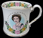 Queen Elizabeth Ii Coalport 60th Birthday Mug England