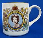 Mug Silver Jubilee Queen Elizabeth Ii Midwinter 1977
