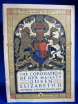 Coronation Program Queen Elizabeth Ii England 1953 Programme