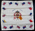 Scarf Coronation Queen Elizabeth Ii 1953 Crown Flags