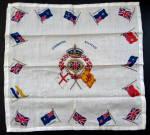 Scarf Coronation Queen Elizabeth Ii 1953 Crown Flags