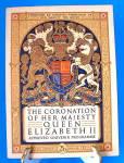 Queen Elizabeth Ii Coronation Program England 1953 Original Programme