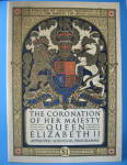 Coronation Program Queen Elizabeth Ii England 1953 Usa Market