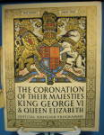 King George Vi Elizabeth Coronation Official Program Deluxe Version