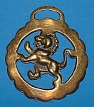 Horse Brass England Lion Rampant Souvenir Pub Brass