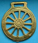 Wheel Horse Brass Geometric England Pub Brass