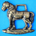 Horse Brass Standing Draft Horse English Souvenir Pub